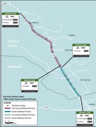 I-680 express lanes opening Monday | News | DanvilleSanRamon com |
